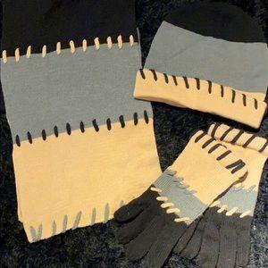 Hat, scarf & gloves set